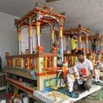 #Rathyatra Preparation at Shri Jagannath Temple in #Ahmedabad ! https://t.co/SP8aPOoifh
