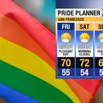 .@SFPride enjoy a weekend of comfy conditions but watch out for the extreme sunshine & breezes! #SF #SFPride https://t.co/SCM0o76Id4