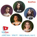 reminder!! Well be at the nbcu booth today at 1pm! Come say hiiii. #vidcon2016 https://t.co/yjaqk7i4bS