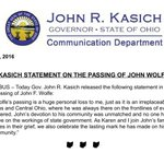 John Wolfe's passing is a huge personal loss to me, just as it is an irreplaceable loss to Columbus and Central OH. https://t.co/OU1E4KNJBJ