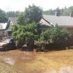 Flood damage in Alleghany County in Callaghan area.  @MonaAbdi13 @ABC13News https://t.co/ZTMmfeUm4e