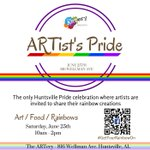 Tomorrow you can celebrate #Huntsville Pride at @TheARTeryHSV! https://t.co/as4uVe9TED