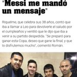 Lionel #Messi le confirmó a #Riquelme, que estará en su partido despedida ???? https://t.co/co4DWxV0Lt