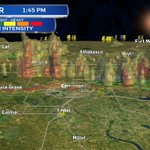 3D Radar - quite a few storm towers N of Edmonton (slowly moving SSE) . #yeg #yegwx https://t.co/aGyVa8eTck