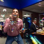 Newsroom antics on a Friday afternoon. Give @BoyerMichel bubbles and heres what you get. @ctvedmonton #yeg https://t.co/9VBs20alUi