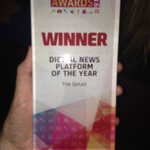 Another major award for @TheDetailTV which is named Digital News Platform of the Year #NIMA16 https://t.co/XZGk6002HS