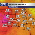 Its HOT HOT HOT right now in Pierre! 99° with high humidity, find a pool! #SDwx https://t.co/CMwCpWI8Vr