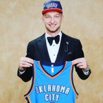 Domantas Sabonis. Official Draft night photo. Welcome to #OKCThunder! #ThunderUP https://t.co/he1vUbY1lq