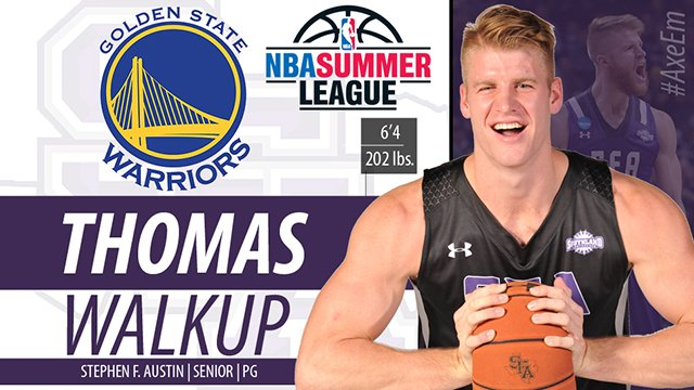 Axes up to our very own Thomas Walkup for being added to Golden State Warriors' Summer League roster. #AxeEm #GSW https://t.co/ja4u8O7vqt