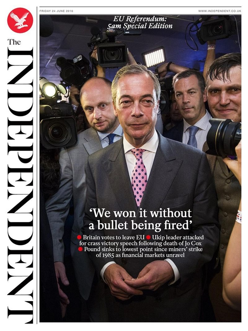 No Nigel. You're a liar. Bullets were fired. They killed an MP. You helped whip up the hate in people who were lost. https://t.co/bbwQawNEIp
