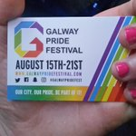 Our volunteers will be handing out @galwaypridefest cards at @DublinPride this weekend, if you see us come say hi! https://t.co/JNH0SSE60j