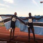 Congratulations to #Botswana Baboloki Thebe & Karabo Sibanda #AfricanChamps gold & silver medallist  #durban2016 https://t.co/Ss1yTDbEPb