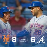 #MetsWIN! #Mets 8-6. @theloney_s does it at the plate and in the field. Box: https://t.co/DqfM1O1MJf https://t.co/cd5XxihFzq