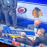 An up-side down Carolina Hurricanes @NHLCanes logo on display at the #NHLDraft tonight (thanks to Andrew for pic) https://t.co/PbYwNeudNk