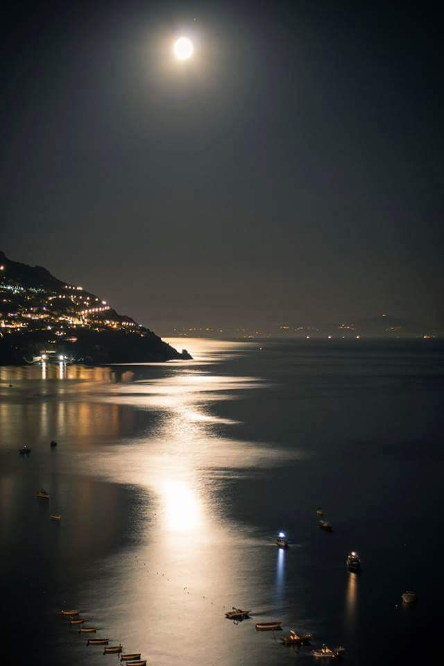 Moon Lit Evening, Positano, Italy https://t.co/xIBnXOYBoB