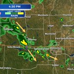 Thunderstorms rolling through Stony Plain at 4:30 - Precip is moving SE. #yegwx #yeg https://t.co/yvJCvAWVM5