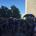 #CBJ Draft Party getting crowded around the big screen for the #NHLDraft2016 https://t.co/36n0RvaIvW