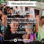 A todos los venezolanos que validaron y a los que colaboraron ustedes son los verdaderos #HéroesdelCambio ¡Gracias! https://t.co/Ime7y5wxJE