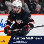 With the first pick in the 2016 #NHLDraft, the @MapleLeafs select Auston Matthews. https://t.co/2M8QeqJgiW