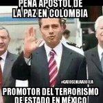 .@EPN Apóstol de La Paz en Colombia...Promotor de terrorismo de estado en #Mexico #CopaAmerica #AMLO https://t.co/IS1vZtn0O9