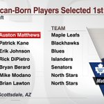 Auston Matthews: 1st American drafted No. 1 overall in #NHLDraft since Patrick Kane in 2007. (via @ESPNStatsInfo) https://t.co/dcUCpU7Ojn