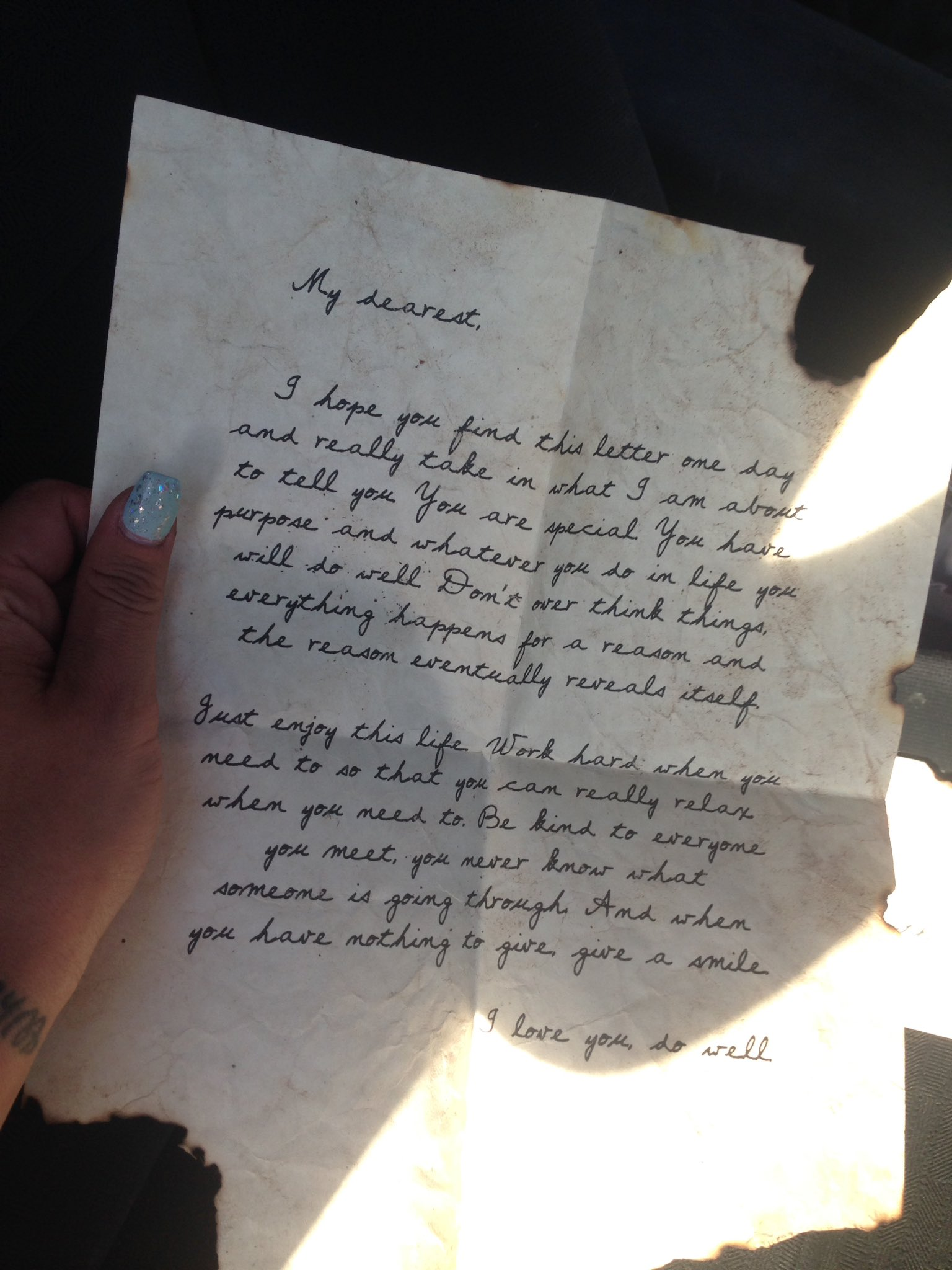 We just stopped back at our campsite and this letter was left. @Electric_Forest thank you for these moments. ✨�������� https://t.co/txhwA0Qgnz