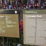 U.S. Dept. of @Interior signage now graces Christopher Park @StonewallInnNYC & celebrates LGBT civil rights (!) https://t.co/Rnk6PS6iwx