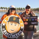 #LoveWins and we LOVE the way these #SFGiants fans are celebrating #LGBTNight! ❤️???? https://t.co/bqrlWU7C8f