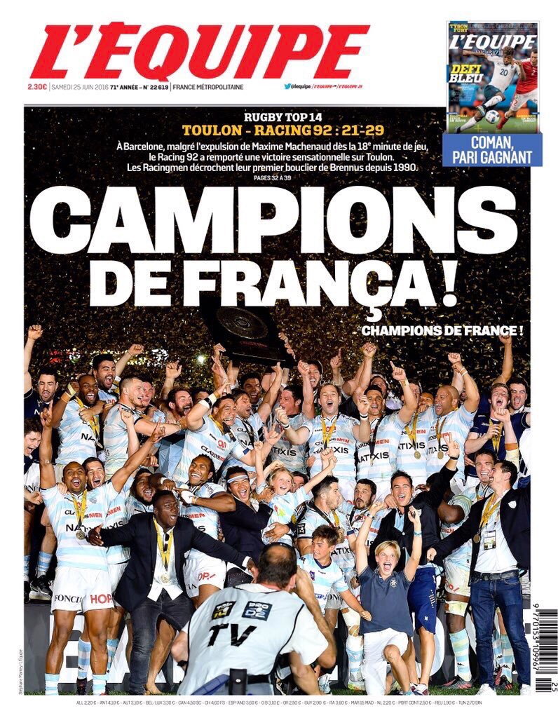 La portada de @lequipe, per primera vegada en català en 70 anys d'història del diari. https://t.co/WhrYsYuhtG