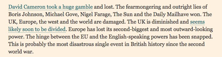 "FT's @martinwolf_ says ""outright lies"" of Farage, Mail & Sun won & Brexit ""most disastrous"" event in UK since WWII https://t.co/WrHXG6nmSx"