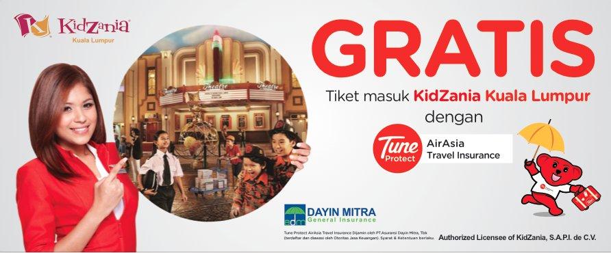 tunjukan Certificate of Insurance kamu ke AirAsia Sales office dan dapatkan tiketnya!