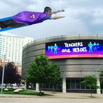 Woke up this morning for a run #ISTE2016 #mieexpert and saw a bird, plane or was it a @OneNoteEDU #MSFTEDU avenger? https://t.co/rho93JmlVO