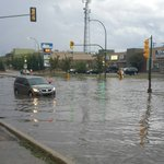Flash flood at Fairlight & Fairmont in Saskatoon around 8:30pm courtesy Lisa George. #yxe #skstorm https://t.co/n9xHVZAgvz