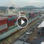 [VIDEO] #AmpliacionDD Así fue la prueba del Cosco Shipping Houston en esclusas de Cocolí > https://t.co/t9sucryTAc https://t.co/gQtsLvnqH6