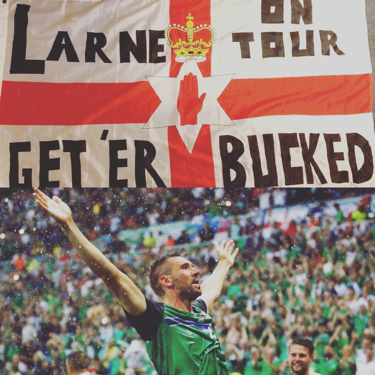 The best we country in the world, Mon Norn Iron, They have Gareth Bale We have @G23mcauley YEEEEOW keep er lit