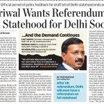 CM @ArvindKejriwal Wants Referendum on Full Statehood for Delhi Soon https://t.co/i89Mf6JdCq