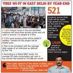 Delhi Govt WiFi in East Delhi by Dec 2016 3000 access points 1000 Hotspot zones @ArvindKejriwal @AashishKhetan https://t.co/0PVJfMpuui