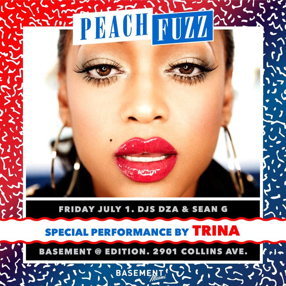 We so Miami Dawg, @TRINArockstarr  next Friday @PeachfuzzParty @BasementMIAMI https://t.co/ddjukxYnyz