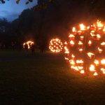 Hardly carbon neutral but Really enjoyed the fire garden by Carabosse @HarrogateFest valley gardens #Harrogate https://t.co/DIrJTu0UA5