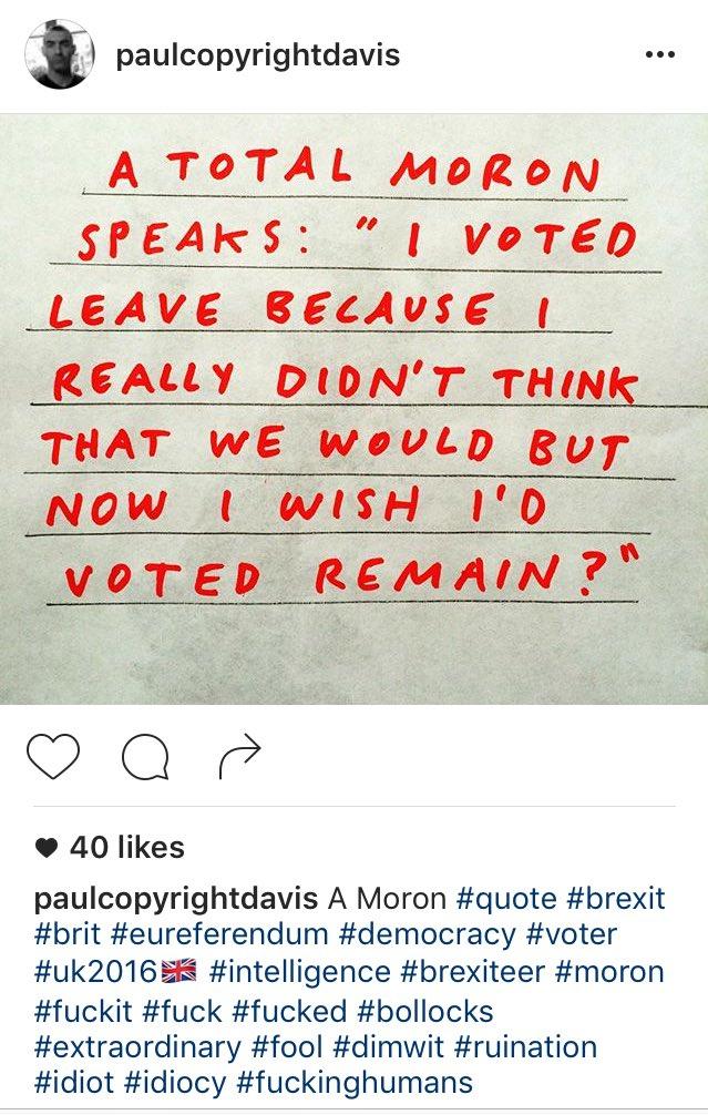 Paul Davis nails it, https://t.co/1qwDhsmIIW #regrexit #brexit https://t.co/rrD6t80Bug