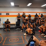 Tonight we dedicate our game to Josh Hardy. Thankyou to his dad Dave for addressing the team tonight @StepBackThink https://t.co/72T2aPHfW3