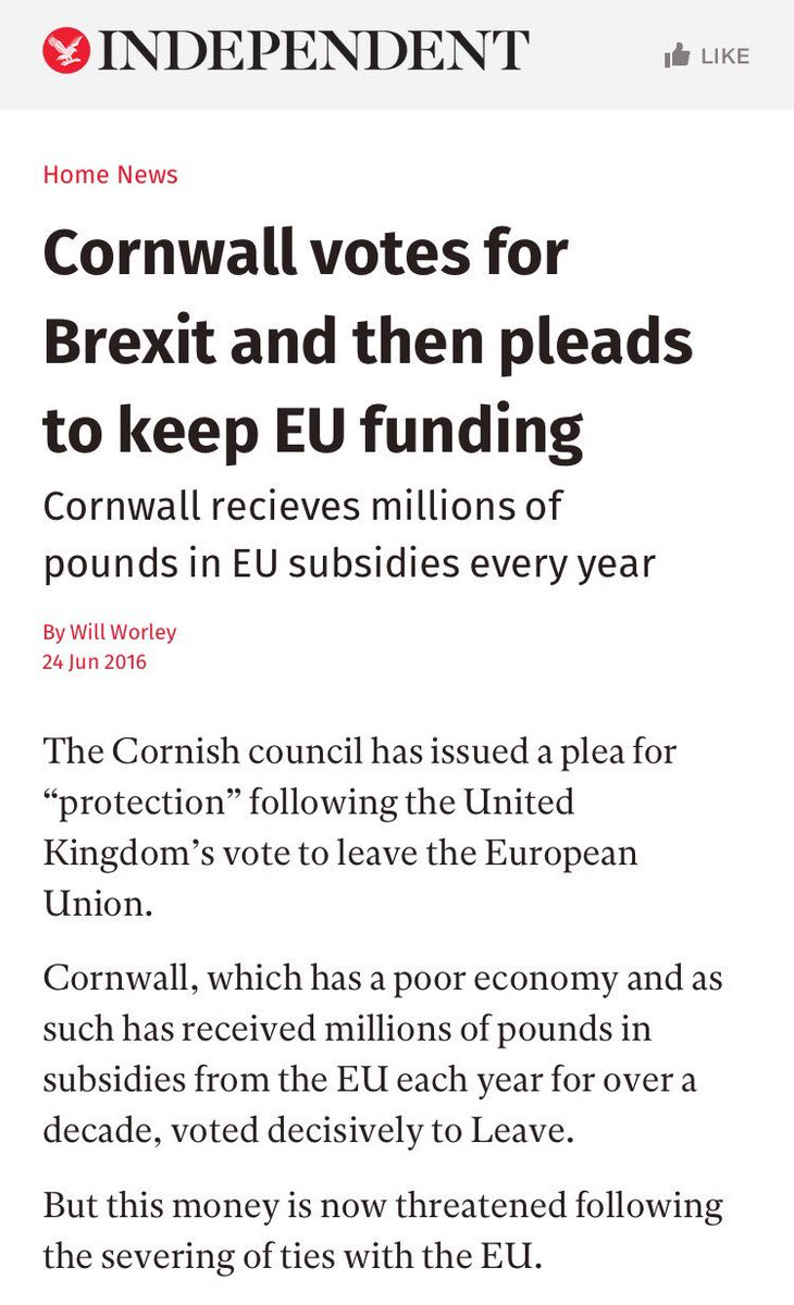 Yeah that's not how it works Cornwall. #EUref https://t.co/DnMIFkU1R4
