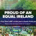Today we march as equals. Hit RT if youre proud of an equal Ireland. #DublinPride #Pride2016 https://t.co/eJo3mQL62k