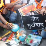 HinduSena burn Chinese products in protest of Chinas opposition of Indian membership to NSG. at jantar mantar https://t.co/YcvbEFom9I