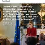 Thank you Scotland ! For being home to Polish soldiers during WW2 and Poles now. Welcome in EU ! @NicolaSturgeon https://t.co/wRzxo7iAEn