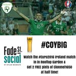 Watch #IREvFRA on our Rooftop Garden & get 2 FREE pints at half time! #EURO2016 #COYBIG #IRL https://t.co/OTFc6IUNnf