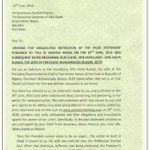 This is the warning letter Mrs Aisha buhari sent to Governor Ayodele Fayose???????????????? As seen on Nairaland https://t.co/bRNo913mNp