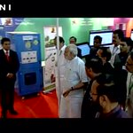 PM Modi takes a look at various stalls at Smart city project venue in Pune (Maharashtra) https://t.co/onzue8gP2b