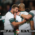 #RSAvIRE - RESULT: WHAT DEFENDING! The @Springboks held out to secure a dramatic win & the series against the Irish. https://t.co/1SEWM4yvl2