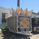Picking up our float for the Pride Parade tomorrow... thx @BangOnNYC for lending us this epic lotus flower beauty!! https://t.co/2FYWmNpcGy